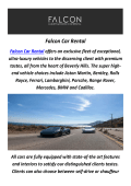 Falcon Car Rental : Hire A Lamborghini Rental in Los Angeles