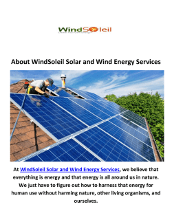 WindSoleil Commercial Solar Installation Service in Chicago, IL