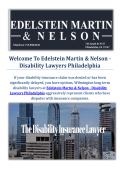 Edelstein Martin & Nelson - Disability Lawyers Philadelphia, 215-858-8440