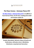 The Piano Factory : Steinway Pianos in NYC