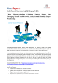 China Microcrystalline Cellulose Market Share, Growth and Monthly Export Monitoring By Hexa Reports