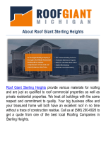 Roof Giant | Roofing Companies in Sterling Heights, MI