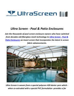 Ultra Screen : Pool Screen in Florida