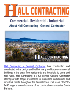 Hall Contracting-construction companies in Santa Barbara, CA