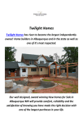 Twilight Homes : Home Builders in Albuquerque, NM
