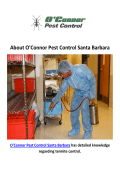 O'Connor Pest Exterminators in Santa Barbara, CA