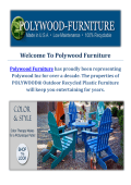 Polywood Outdoor Furniture Miami Springs, Florida