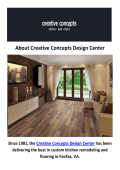 Creative Concepts Design Center : Flooring in Fairfax, VA