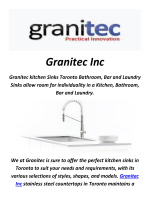 Granitec Inc : Stainless Steel Sink