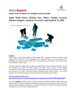 India Wind Power Market Share, Growth and Overview To 2030: Hexa Reports