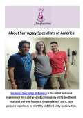 Surrogacy Specialists of America - Surrogate Agency in Houston, TX