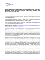 Mobile Application Development Platform Market Growth, Price, Demand and Forecasts To 2020