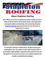 Stapleton Roofing Contractor in Phoenix, AZ