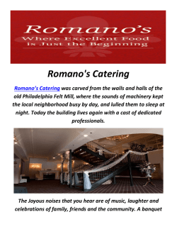 Romano's Catering In Philadelphia, PA