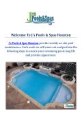 Swimming Pool Builders : J's Pools & Spas Houston, TX