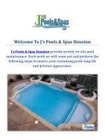 Swimming Pool Builders : J's Pools & Spas Houston, TX
