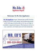 Mr. Eds Appliance Repair Service in Albuquerque