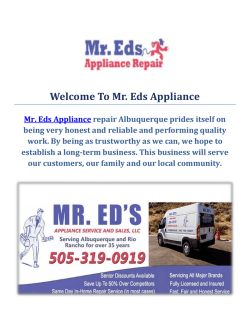 Mr. Eds Appliance Repair Service in Albuquerque
