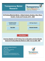 Growing Adoption of 3D Printing Tech in Education and Govt Boosts Global 3D Printing Materials Market to US$1.4 bn by 2020.pdf