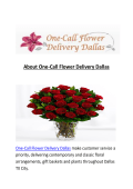 One-Call same day Flower Delivery Dallas, TX