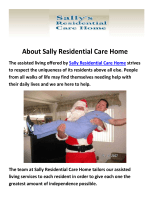 Sally Residential Care Home - Assisted Living Communities in Camarillo, CA