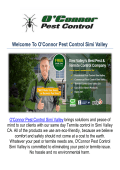 O'Connor Pest & Termite Control Company in Simi Valley, CA