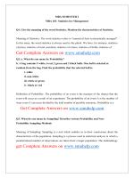 MBA103 Statistics for Management