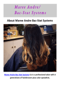 Maree Andre Bac-Stat Systems : Hair Color Questions And Answers in San Jose, CA