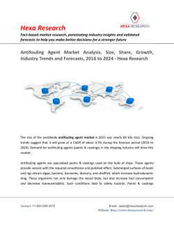 Antifouling Agent Market Share, Analysis and Forecasts, 2016 to 2024