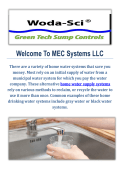 MEC Systems LLC : Home Water Supply Systems