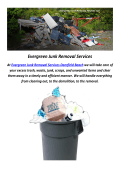 Evergreen Junk Trash Removal in Pompano Beach, FL