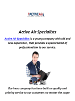 Air Condition And Heating in Porter Ranch, CA By Active Air Specialists