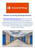 Self Storage in Pensacola by University Self Storage