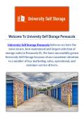 Self Storage in Pensacola by University Self Storage