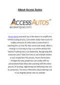 Access Autos Offers Leasing A Car In Los Angeles