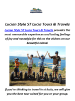 Lucian Style Luxury Travel in St Lucia