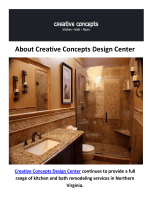 Bathroom Remodeling in Fairfax, VA : Creative Concepts Design Center