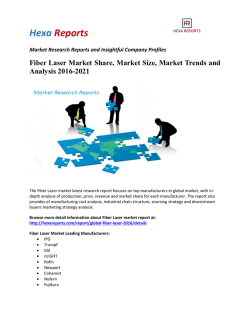 Fiber Laser Market Share, Market Size, Market Trends and Analysis 2016-2021