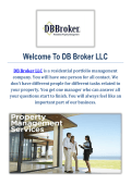 San Antonio Residential Property Management Company : DB Broker LLC