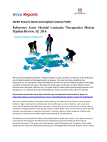 Refractory Acute Myeloid Leukemia Therapeutics Market Pipeline Review, H2 2016
