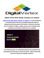 Digital Vertex Best Web Design Company in Los Angeles, CA