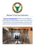 Tony Toro Construction Company in Santa Barbara, CA