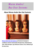 Maree Andre Bac-Stat Systems - Hairstylist Supplies in San Jose, CA