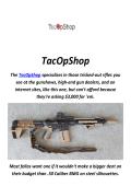 TacOpShop : Left Handed AR-15 For Sale