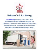 5 Star Movers in Los Angeles CA