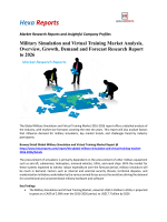 Military Simulation and Virtual Training Market Analysis, Overview, Growth, Demand and Forecast Research Report to 2026