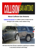 Collision Auto Shop in San Antonio, TX