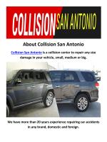 Collision Auto Shop in San Antonio, TX
