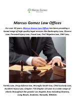 Marcus Gomez Law Offices : Bankruptcies Lawyer in Whittier, CA