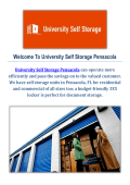 Storage Units by University Self Storage Pensacola